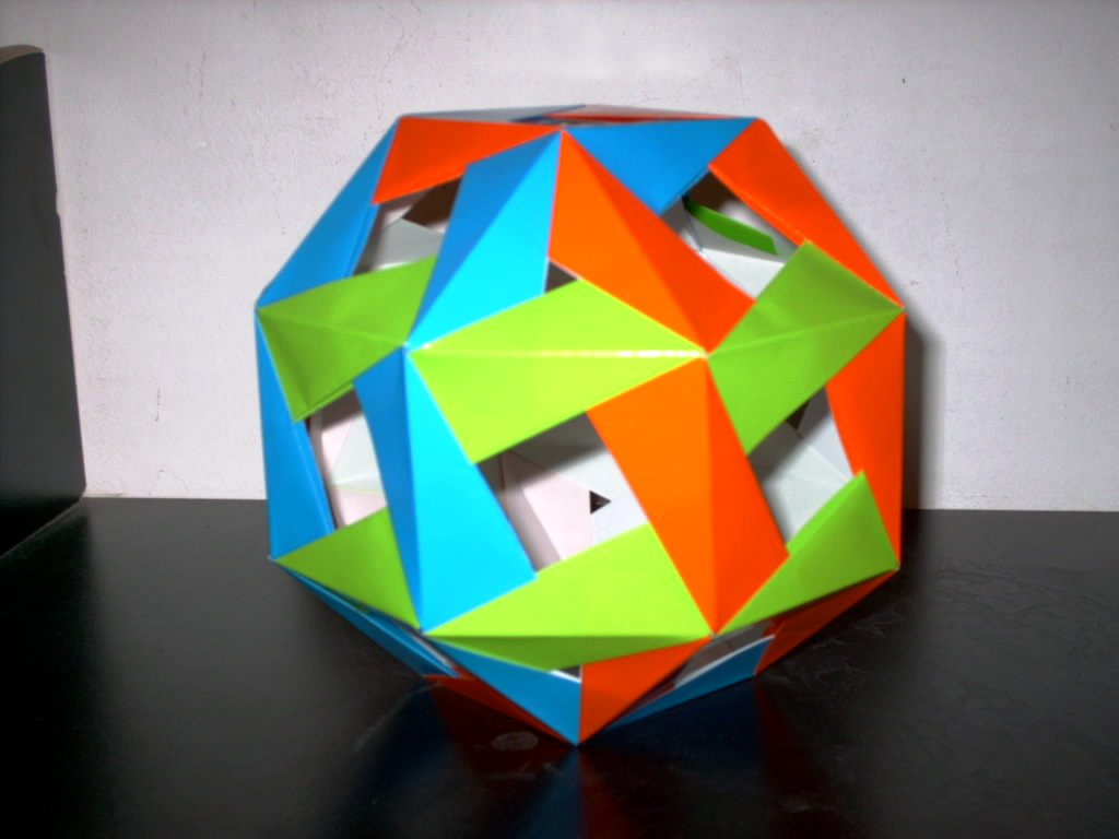 Jim planks origami page modular plus another by a gaedicke of chile truncated icosahedron jeuxipadfo Gallery